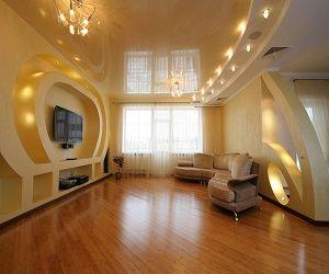 Натяжные потолки во всей квартире